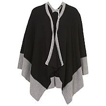 Buy Betty Barclay Knitted Contrast Poncho, Black/Grey Online at johnlewis.com