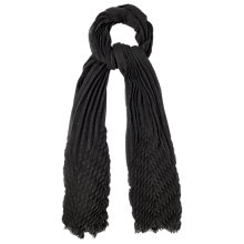 Buy Phase Eight Alissa Pleated Scarf, Charcoal Online at johnlewis.com