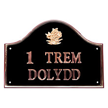 Buy The House Nameplate Company Personalised Solid Brass Bridge House Sign, Daffodil Motif Online at johnlewis.com