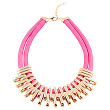Buy Adele Marie Double Row Flat Bar Necklace, Fuchsia/Gold Online at johnlewis.com