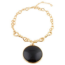 Buy Adele Marie Fancy Chain Necklace, Gold/Black Online at johnlewis.com