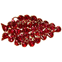 Buy Alice Joseph Vintage 1950s American Glass Stone Brooch and Earrings Set, Crimson Online at johnlewis.com