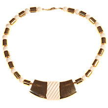 Buy Alice Joseph Vintage Napier Gold Toned Enamel Necklace, Gold/Cream Online at johnlewis.com