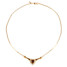 Buy Alice Joseph Vintage Monet Diamante Heart Necklace, Amethyst/Clear Online at johnlewis.com