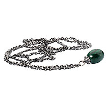 Buy Trollbeads Fantasy Green Malachite Pendant Necklace, Silver Online at johnlewis.com