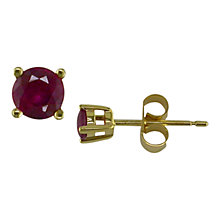 Buy 9ct Yellow Gold Ruby Earrings, Gold Online at johnlewis.com