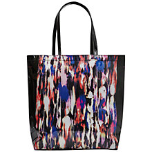 Buy French Connection Sophie Printed Plastic Tote Bag, Record Ripple / Black Online at johnlewis.com
