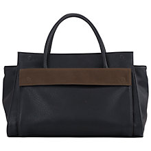 Buy French Connection Nadya Double Handle Holdall, Black/Olive Online at johnlewis.com
