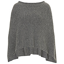 Buy Betty Barclay Boiled Wool Poncho, Dark Grey Melange Online at johnlewis.com