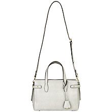 Buy Jaeger Madison Leather Handbag, Grey Online at johnlewis.com