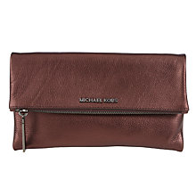 Buy MICHAEL Michael Kors Jane Leather Foldover Wallet Online at johnlewis.com