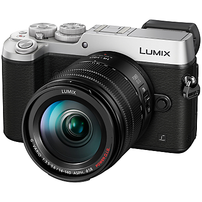 Panasonic LUMIX DMCGX8 Compact System Camera with 14140mm Interchangable Telephoto Zoom Lens 4K Ultra HD 20.3MP 4x Digital Zoom WiFi OLED Viewfinder 3 OLED Touchscreen FreeAngle Monitor Splash & Dustproof