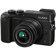 "Buy Panasonic LUMIX DMC-GX8 Compact System Camera with 14-42mm Interchangable Lens, 4K Ultra HD, 20.3MP, 4x Digital Zoom, Wi-Fi, OLED Viewfinder, 3"" OLED Touchscreen Free-Angle Monitor, Splash & Dustproof Online at johnlewis.com"