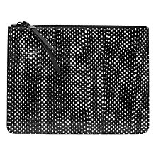 Buy French Connection Patsy Snake Zip Clutch Bag, Black Online at johnlewis.com