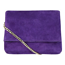 Buy Karen Millen Aldwych Mini Clutch Bag, Purple Online at johnlewis.com