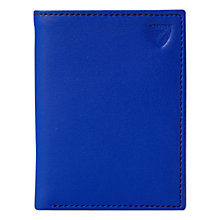 Buy Aspinal of London Leather Double Credit Card Case, Cobalt Blue Online at johnlewis.com