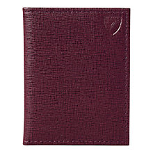 Buy Aspinal of London Leather ID & Travel Card Case, Burgundy Online at johnlewis.com