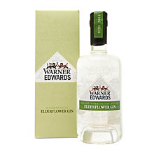 Buy Warner Edwards Elderflower Gin, 70cl Online at johnlewis.com