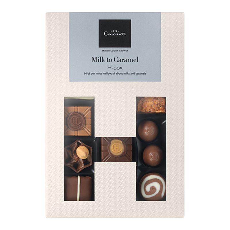 Hotel Chocolat Hotel Chocolat Milk to Caramel H-Box Selection Box