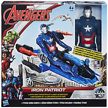 Buy The Avengers Iron Patriot Arc Thruster Jet Figure Set Online at johnlewis.com