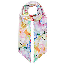 Buy Ted Baker Bethiaa Hanging Garden Skinny Scarf, Multi Online at johnlewis.com