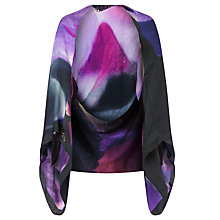 Buy Ted Baker Daylar Cosmic Bloom Silk Cape Scarf, Black Online at johnlewis.com