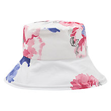 Buy Joules Amazing Rose Sun Hat, White/Multi Online at johnlewis.com