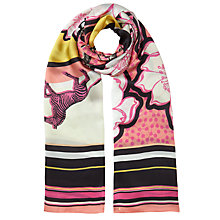 Buy Ted Baker Dion Zebra Tribal Long Silk Scarf, Pink/Multi Online at johnlewis.com