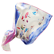 Buy Joules Bloomfield Beach Silk Square Scarf, Multi Online at johnlewis.com