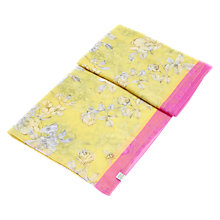 Buy Joules Wensley Floral Print Scarf, Lemon/Multi Online at johnlewis.com