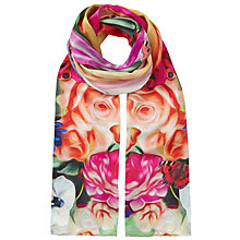 Buy Ted Baker Adita Floral Swirl Long Silk Scarf, Multi Online at johnlewis.com
