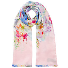 Buy Ted Baker Tracie Hanging Gardens Long Silk Scarf, Multi Online at johnlewis.com