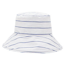 Buy Joules Amazing Stripe Sun Hat, White/Blue Online at johnlewis.com