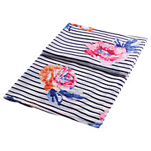 Buy Joules Harmony Rose and Stripe Print Scarf, Multi Online at johnlewis.com