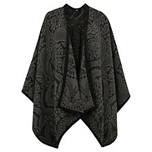 Buy Oasis Paisley Wrap, Mid Grey Online at johnlewis.com