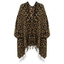 Buy Oasis Animal Fringed Wrap, Brown Online at johnlewis.com