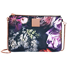 Buy Ted Baker Prima Canvas Zip Crossbody Bag, Black Online at johnlewis.com
