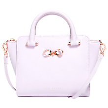 Buy Ted Baker Perie Bow Mini Leather Tote Bag,  Pale Pink Online at johnlewis.com