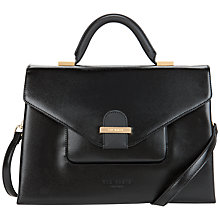 Buy Ted Baker Lavena Crosshatch Large Tote Bag, Black Online at johnlewis.com