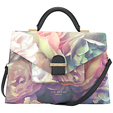 Buy Ted Baker Tayler Technicolour Bloom Tote Bag, Black Online at johnlewis.com
