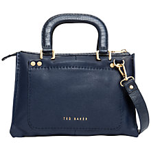 Buy Ted Baker Gaitory Stab Stitch Leather Tote Bag Online at johnlewis.com