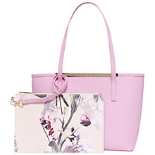 Buy Ted Baker Phoebie Crosshatch Leather Shopper Bag, Pink Online at johnlewis.com