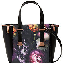 Buy Ted Baker Pacey Flora Small Shopper Bag, Black Online at johnlewis.com
