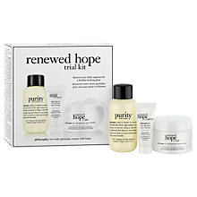 Buy Philosophy Renewed Hope in a Jar Trial Set Online at johnlewis.com
