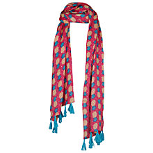 Buy Fat Face Girls' Pineapple Print Scarf, Pink Online at johnlewis.com
