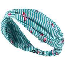Buy Fat Face Flamingo Headband, Green Online at johnlewis.com