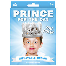 Buy Prince For A Day Inflatable Crown Online at johnlewis.com