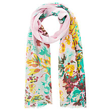 Buy Mango Kids Children's Floral Print Scarf, Medium Pink Online at johnlewis.com