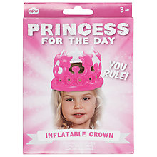 Buy Princess For The Day Inflatable Crown Online at johnlewis.com