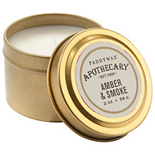 Buy Paddywax Apothecary Amber and Smoke Scented Candle Tin Online at johnlewis.com